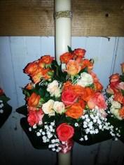 lumanari nunta arad trandafiri portocalii