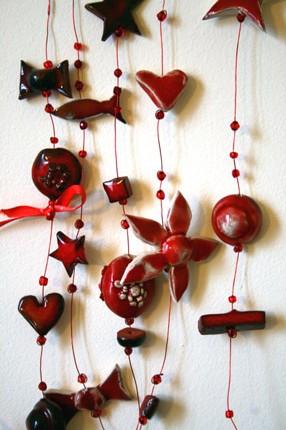 Rideaux décoratif en céramique modelée