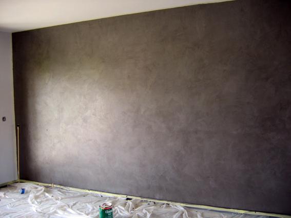 Enduit murale stucé métalique