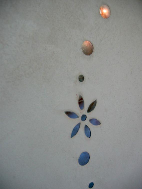Incrustation Mosaïque et béton ciré Flore Molinaro