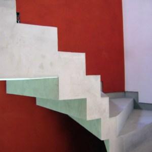 escalier et mur en béton ciré flore molinaro