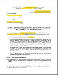 About Florida Marital Settlement Agreements - Which MSA ...