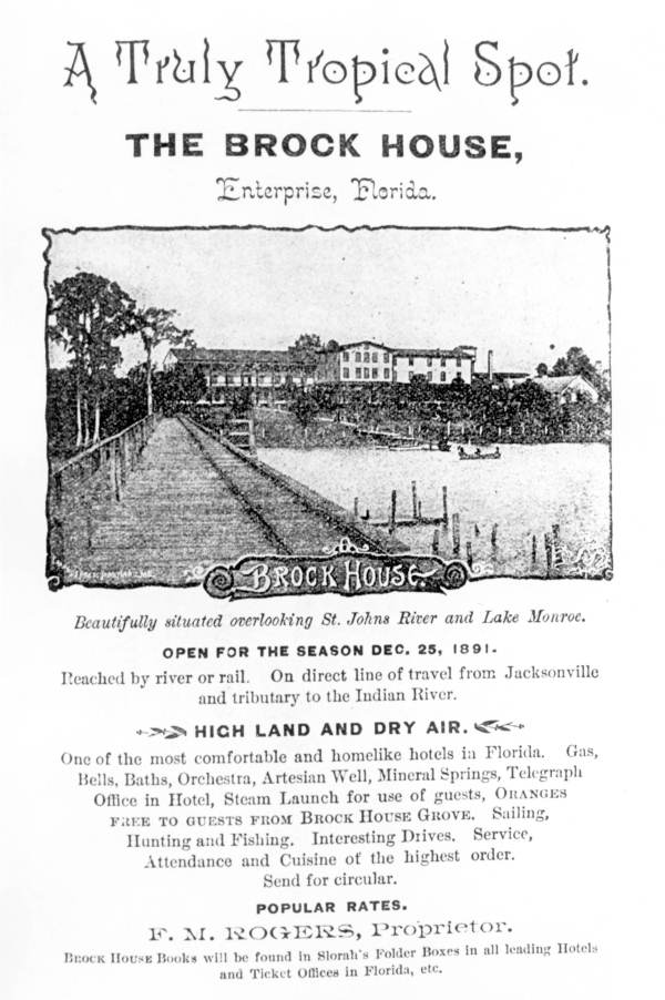 Florida Memory - Advertisement for the Brock House Hotel - House Advertisements