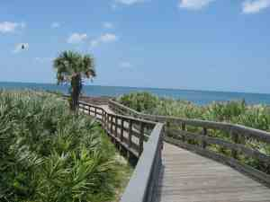 Beach access boardwalk to Apollo Beach, one of Florida's best beaches.