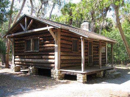 Log cabins at myakka state park near sarasota florida for Florida state parks cabins