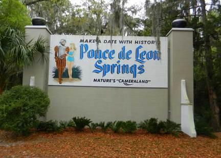 Vintage sign at De Leon Springs State Park