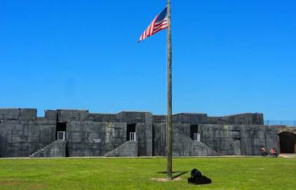 Fort Zachary Taylor was begun in 1845 and took 21 years to complete.