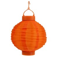 Lampion LED mit Solar 20cm Orange kaufen in Schweiz