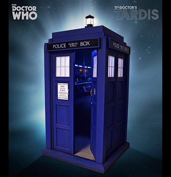 Doctor Who 3d Wallpaper Eleventh Doctor S Tardis 1 6 Scale Police Box By Big Chief