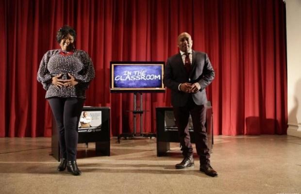 Executive Director Tonya Lewis Taylor with ABC's SHARK TANK Daymond John.