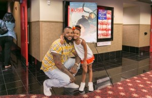 The Game and his daughter Cali at the Kubo And The Two Strings at AMC Century City in Los Angeles