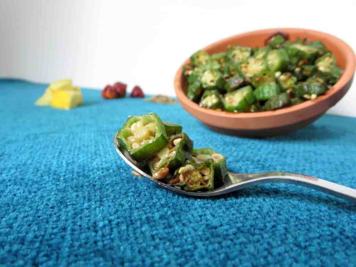 Bhindi ki Sabzi or Spicy Pakistani Style Okra