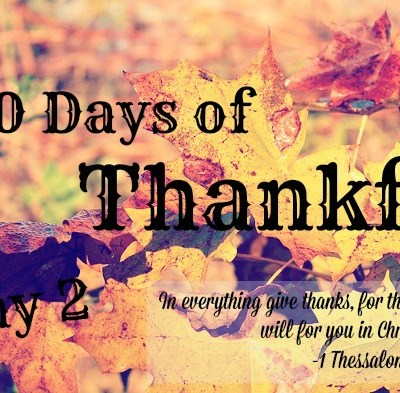 30 Days of Thankful: Day 2
