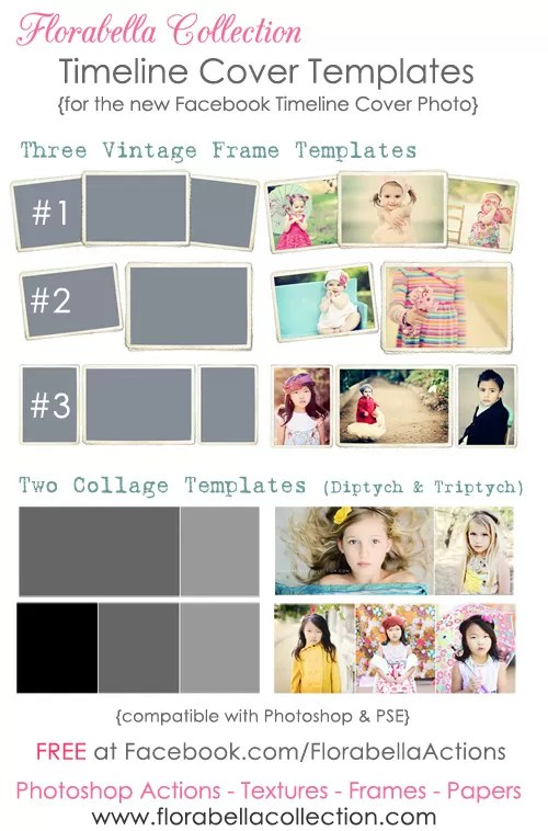 5 Free Facebook Timeline Templates from Florabella Flourish Free - facebook collage template