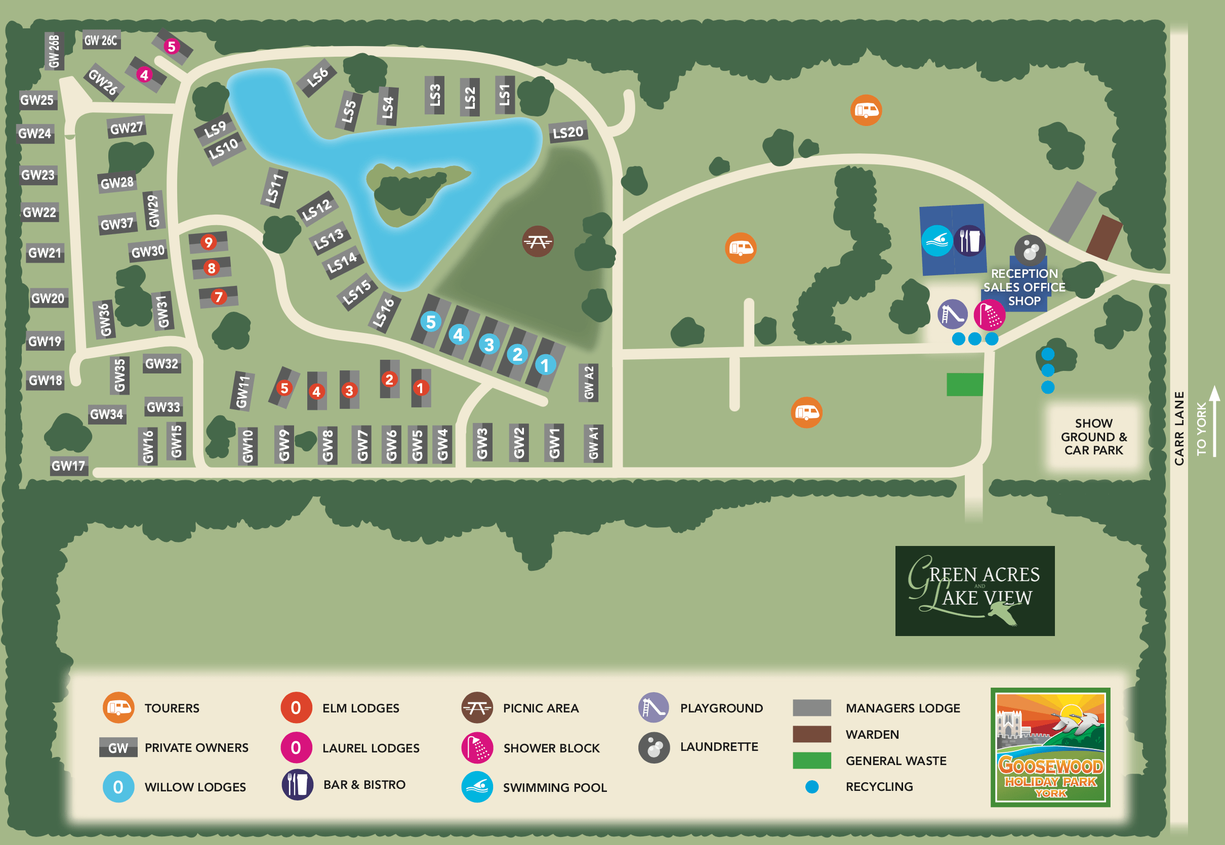 Entry11 Map Of Goosewood Holiday Park In York Flower Of May