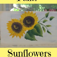 Paint Sunflowers Simple & Easy