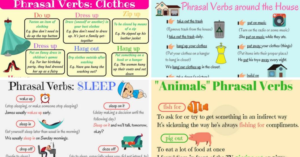 English Phrasal Verbs for Communication \u2013 Fluent Land - verbs list