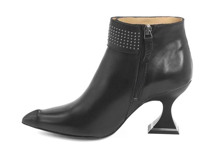 Fluevog Shoes Shop Tralala Black Studded Ankle Boot