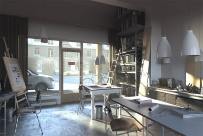 3D Interior Design Renderings in Real-Time, FluidRay RT Software