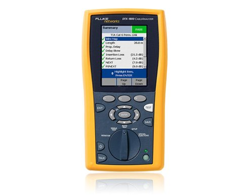 DTX Cable Analyzer - Network Cable Certification Tester Fluke Networks