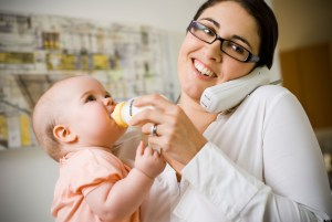 ProLife Voter Phone Call Woman with Baby