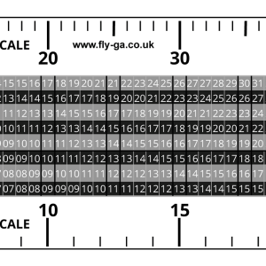 Fly GA Flight Diversion Ruler (Plotter) - Flight Equipment for PPL
