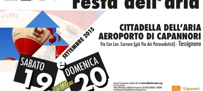 Festa dell'Aria – 4° Trofeo Aerostatico Comune di Capannori – 19 e 20 settembre 2015