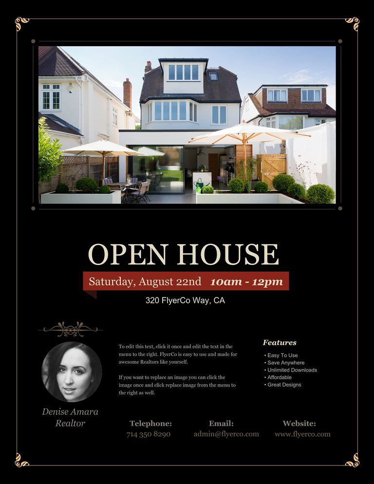 Open House Flyers - Real Estate Marketing Blog - open house flyer
