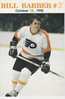 RARE PHILADELPHIA FLYERS BILL BARBER JERSEY RETIREMENT CARD SGA 1990