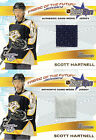 Bowman 2001 02 Fabric Of The Future Game Used Jersey Scott Hartnell 2 Card