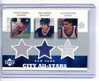 Roger Clemens Eric Lindros Houston 2003 UD Superstars City All Stars 3X Jersey