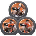 Philadelphia Flyers Traded Player Pucks Hat Trick Pack Carter Richards Van Reims