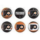 Philadelphia Flyers Official NHL 2 Round Button Set 6 Pack Philly by Wincraft