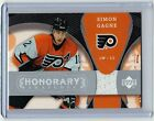 2007 08 UD TRILOGY HONORARY SWATCHES JSY SIMON GAGNE FLYERS 248