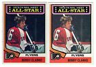 1X BOBBY CLARKE 1974 75 Topps 135 EXNM Lots Available FLYERS All Star