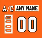 Philadephia Flyers Home Jersey Customized Number Kits un sewn