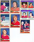 1974 75 Topps Hockey Flyers 8 Card Lot With Bill Barber VG EX Condition