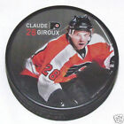 CLAUDE GIROUX Philadelphia Flyers PLAYER PHOTO PUCK 2013 NEW 28 In Glas Co