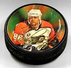ERIC LINDROS PHILADELPHIA FLYERS NHL NHLPA PUCK FRONT HAS WRINKLES US00451