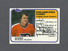 Bill Barber signed Flyers 1981 82 Topps team leaders hockey card