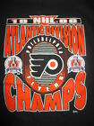 1996 PHILADELPHIA FLYERS Atlantic Division Champs XL Shirt STANLEY CUP w Tags