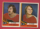 1974 75 OPC FLYERS BILL BARBER + DAVE SCHULTZ 2ND YEAR CARD
