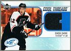 Simon Gagne 2005 06 Upper Deck Ice Cool Threads CT SG Black Swatch