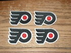 4 LOT OF VINTAGE PHILADELPHIA FLYERS IRON ON PATCH 2 1 2 INCHES