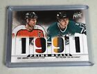 Flyers Sharks Eric Lindros Pat Falloon Patch 2012 13 Panini Prime Duals 17 50