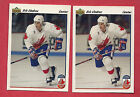 2 X 1991 92 UPPER DECK  9 TEAM CANADA ERIC LINDROS CARD ROOKIE RC