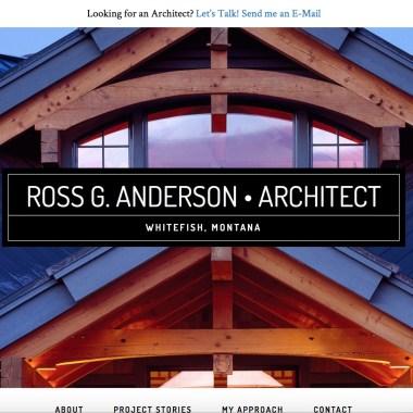 New WordPress Website for Whitefish Architect