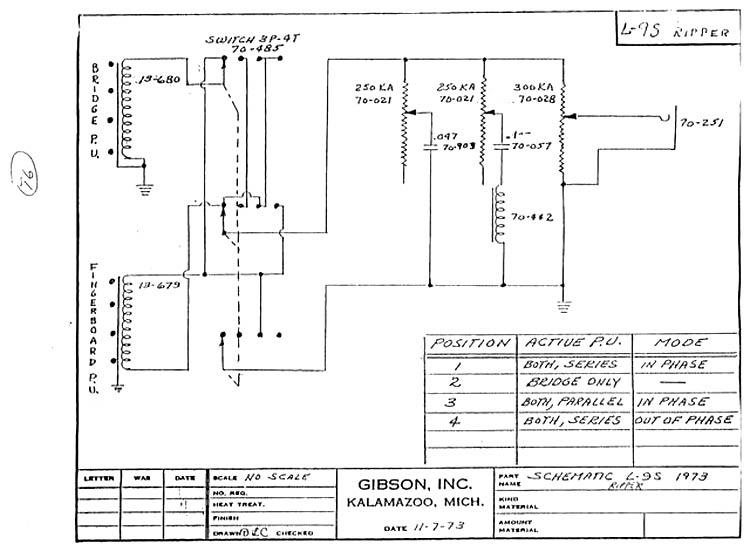 Gibson Ripper Bass Guitar wiring schematic \u003e\u003e FlyGuitars