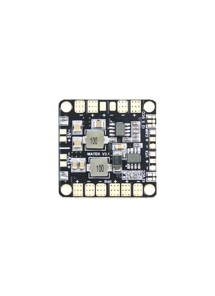 Matek Mini Quad PDB with 5V  12V BEC Outputs (36x36mm) Flying Tech