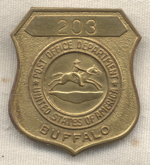 1950\u0027s US Post Office Employee Badge from Buffalo, New York #203